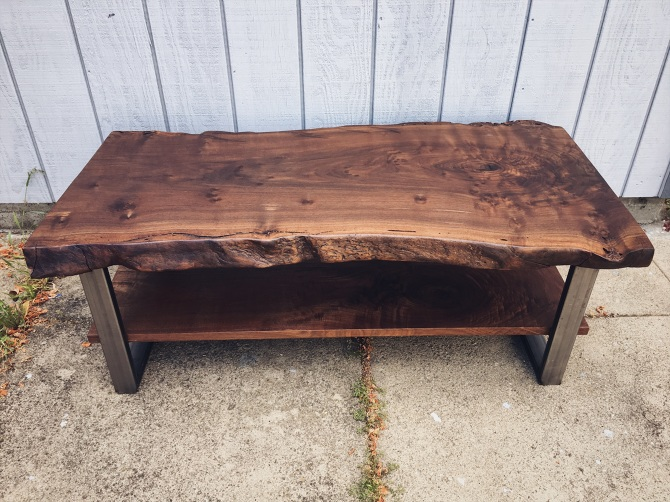 Two Level Black Walnut Coffee Table Ambrose Woodworks