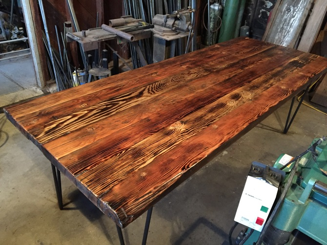 Dark Wood Bench