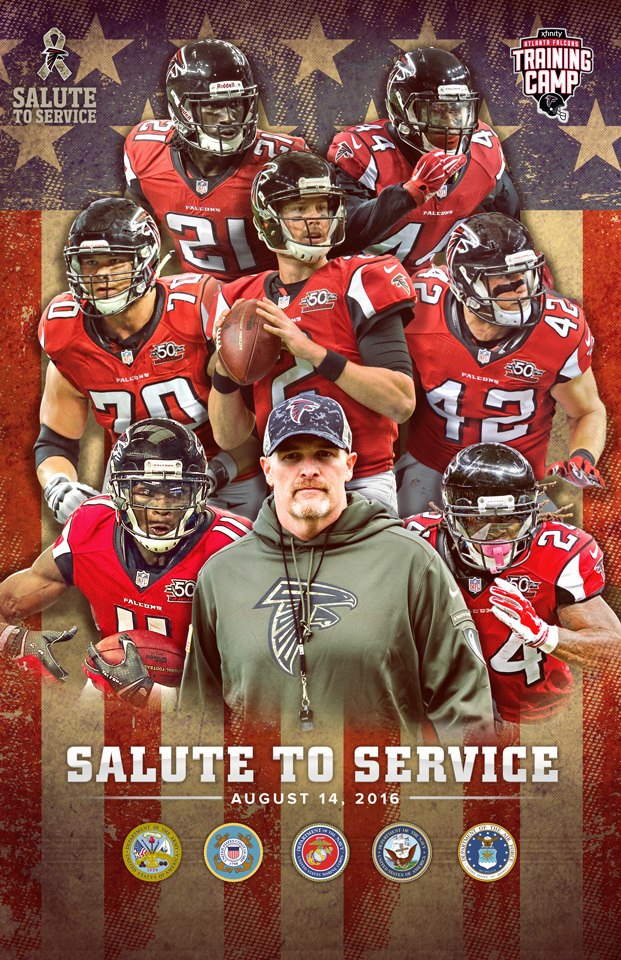 08f6670e8 Falcons Salute to Service Training Camp Poster - Kenneth W. Baldwin    Creative Sage