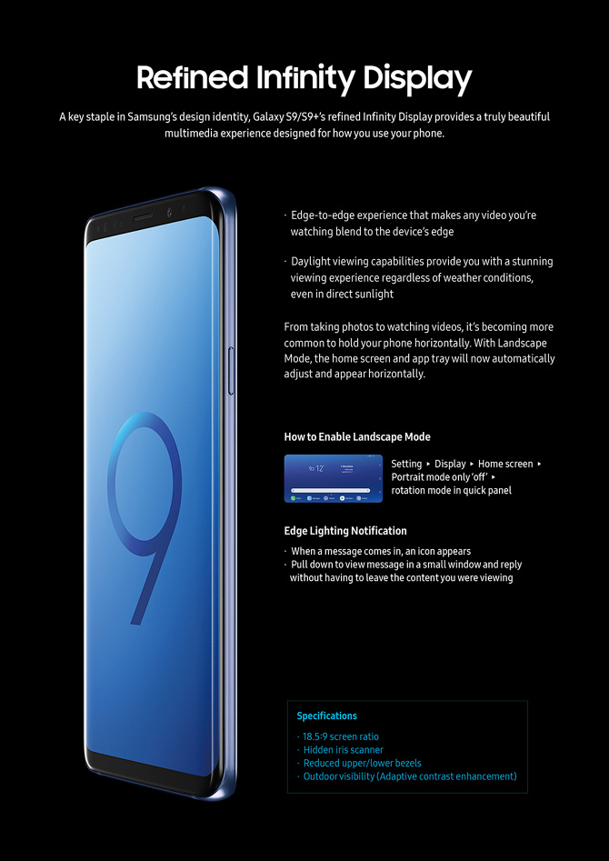 Reviewer's Guide] Galaxy S9/S9+ - Swan Lee
