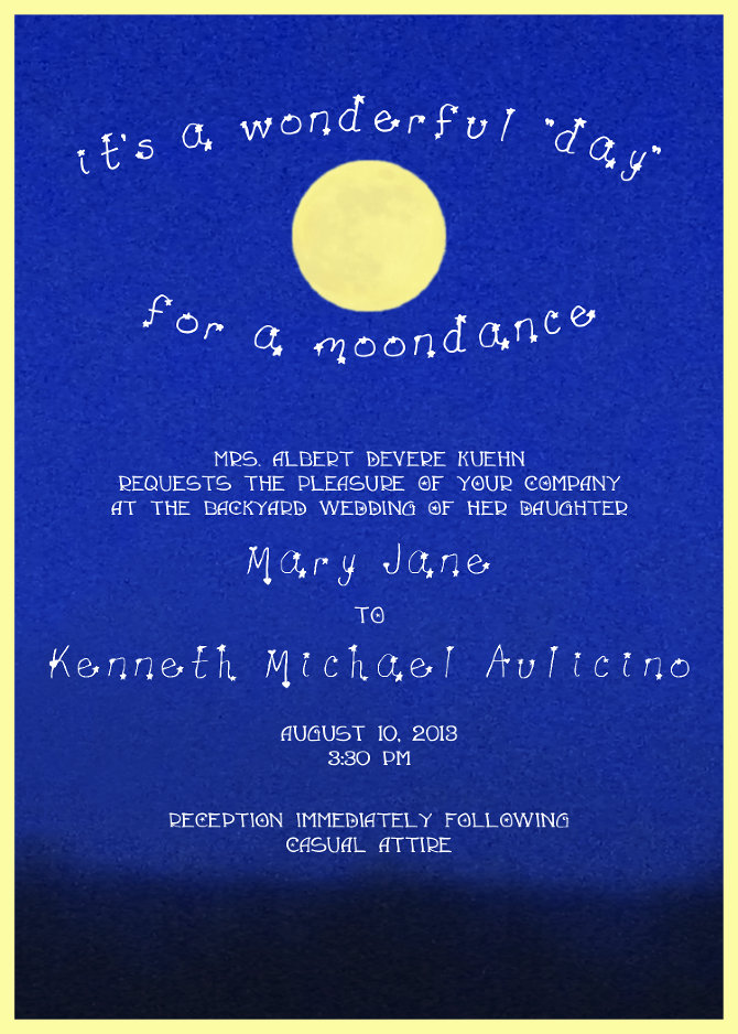 Moon Stars Wedding Invitations Avagoodwin Personal Network