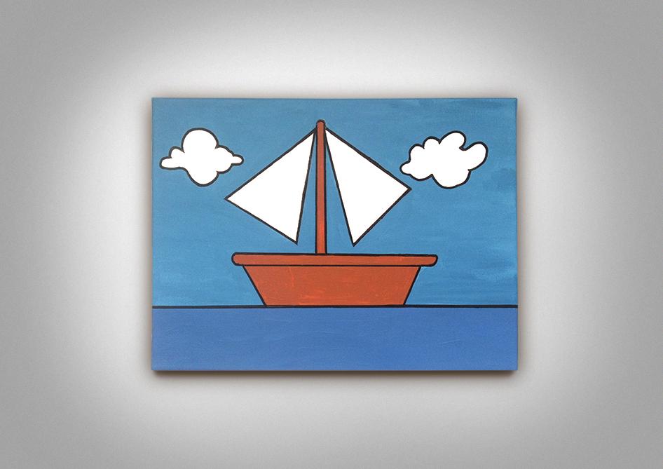 Bleigießen Segelboot